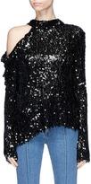 Magda Butrym 'Oxford' cutout shoulder sequin knit top
