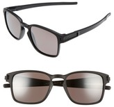 Oakley Women's Latch 52Mm Polarized Rectangular Sunglasses - Matte Black/ Prizm Polar