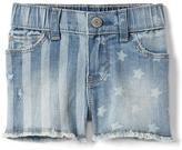 Gap Stretch stars & stripes shorty shorts