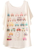Special Gift For You.Daisy Multy Style Bat Batwing Sleeve Women Girl T Shirt Blouse Top
