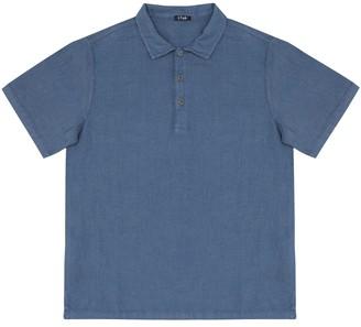 Il Gufo Linen polo shirt