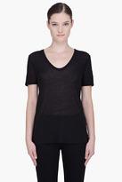 T BY ALEXANDER WANG Black Classic Slub Muscle T-Shirt