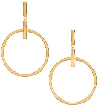 Dean Davidson 22K Yellow Goldplated Bamboo Drop Hoop Earrings