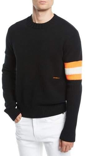 Calvin Klein Men's Sleeve-Striped Cashmere Sweater