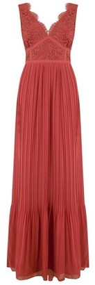 Dorothy Perkins Womens **Little Mistress Red Lace Bodice Maxi Dress, Red