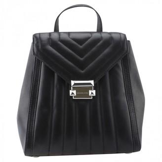 Michael Kors Black Leather Backpacks