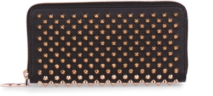 Christian Louboutin Panettone black and gold spikes wallet