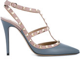 Valentino Garavani Valentino Blue Nude Rockstud Heels - women - Leather/metal - 35.5
