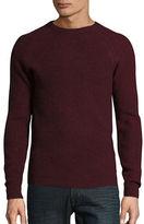 Ben Sherman Mouline Ribbed Crewneck Sweater
