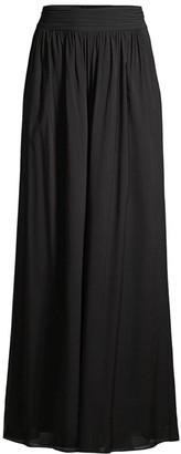 Kobi Halperin Hailey Pleated Wide-Leg Silk Pants