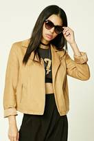 Forever 21 FOREVER 21+ Faux Suede Moto Jacket