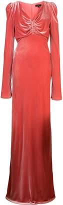 Ellery ruched detail velvet dress