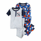 Carter's Boys 4Pc. Cotton Sleep Firetruck, Baseball Sports Pajamas