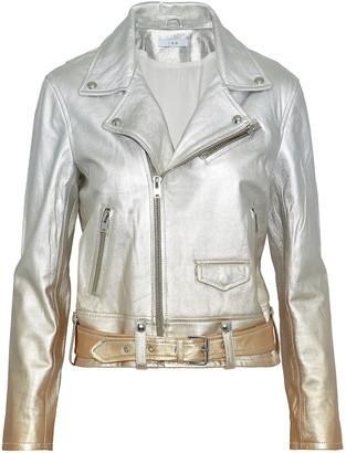 IRO Metallic Degrade Leather Biker Jacket
