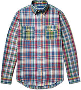 Polo Ralph Lauren Slim-Fit Button-Down Collar Madras-Checked Cotton Shirt