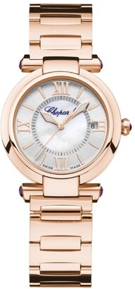 Chopard Rose Gold and Amethysts Imperiale Automatic Watch 29mm