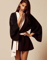 Agent Provocateur Kiki Kimono Black/Pink