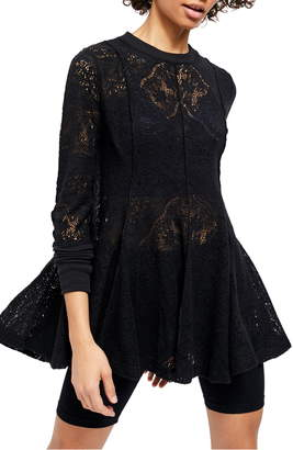 Free People Coffee in the Morning Tunic Pullover