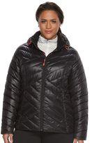 Tek Gear Plus Size Hooded Packable Puffer Jacket