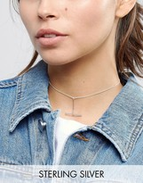Asos Sterling Silver Toggle Choker Necklace