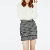 Maje Embroidered knit miniskirt