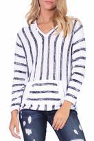 Elan V Neck Striped Sweater