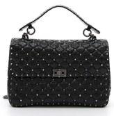 Valentino 'Large Rockstud' Lambskin Leather Shoulder Bag - Black