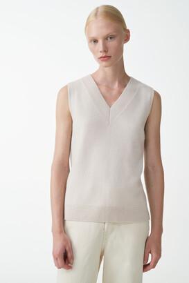 Cos V-Neck Cashmere Vest
