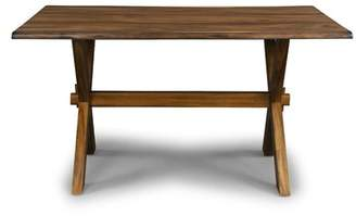 Kai Lani Forest Retreat Trestle Dining Table Millwood Pines
