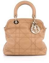 Christian Dior Pre-owned: Granville Satchel Cannage Quilt Leather.