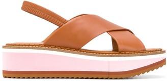 Clergerie Freedom slingback flatform sandals