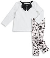 Kate Spade Baby Girls Bow Accented Top and Leggings Set