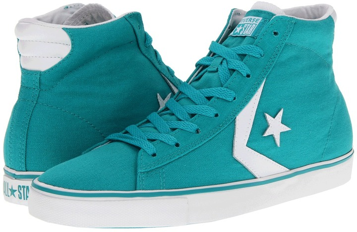 Converse Pro Leather Vulc Mid - Canvas (Viridian Green) - Footwear
