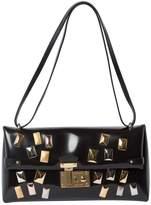 Louis Vuitton Triangle Black Leather Handbags