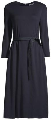 Peserico Three-Quarter Sleeve Belted Dress