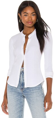 L'Academie Long Sleeve Button Up Top