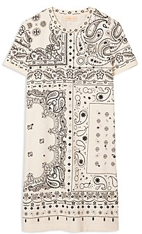 Tory Burch Bandana Print T-Shirt Dress