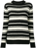 The Elder Statesman stripey long sleeve jumper - women - Cashmere - XS