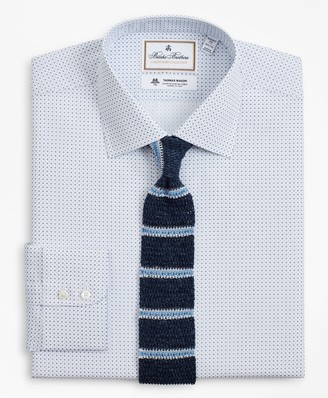 Brooks Brothers Luxury Collection Regent Fitted Dress Shirt, Franklin Spread Collar Geo Print