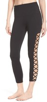 Zella Women's Lace It Up High Waist Midi Leggings
