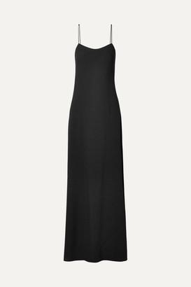 The Row Ebbins Crepe Maxi Dress - Black