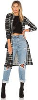Bobi Sweater Plaid Cardigan in Black. - size L (also in M,S,XS)