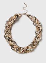 Evans Pink Pearl Plait Necklace