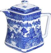 One Kings Lane Vintage Blue Willow Teapot
