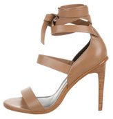 Tibi Leather Wrap-Around Sandals