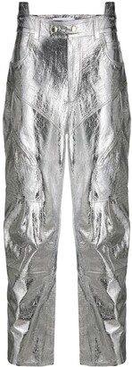 Ambush Metallic Straight-Leg Trousers