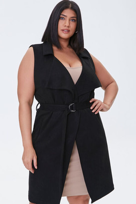 Forever 21 Plus Size Belted Duster Vest