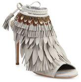 Aquazzura Pocahontas Fringed Suede Peep-Toe Sandals