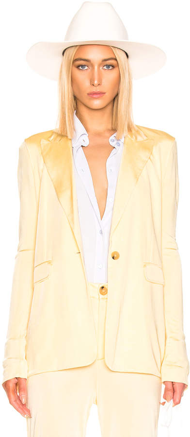 Acne Studios Janine Suit Jacket in Vanilla Yellow | FWRD