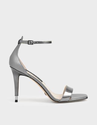 Charles & Keith Metallic Leather Stiletto Heels